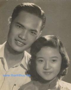Vợ chồng nhạc sĩ Thanh Sơn hồi trẻ