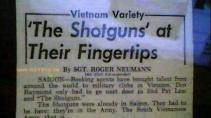 """Tờ báo """"Stars & Stripes News"""" viết về Ban Shotguns, phát hành ngày 25 tháng 10 năm 1968 (tài liệu do MC Trần Quốc Bảo cung cấp)"""