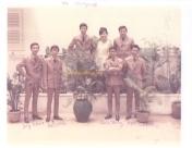 từ trái, hàng trên: Pat Lâm, Ngọc Mỹ, Hoàng Liêm từ trái, hàng dưới: Duy Khiêm, Đức Hiếu, Quốc Hùng, Ngọc Chánh (photo do MC Trần Quốc Bảo cung cấp)