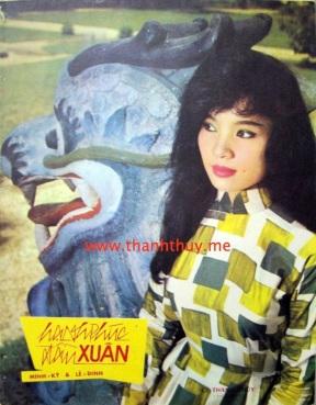 """Ảnh Thanh Thúy trên bìa bả n nhạc """"Hạnh phúc đầu Xuân"""""""