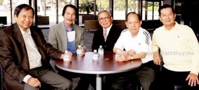từ trái: Lê Dinh, Nhật Ngân, Anh Bằng, Huỳnh Anh, Ngọc Chánh