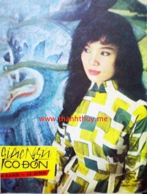 """Ảnh Thanh Thúy trên bìa bản nhạc """"Giấc ngủ cô đơn"""""""