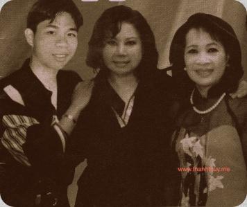 từ trái: Khương Quốc Linh Vũ, Kim Tuyến, Thanh Thúy