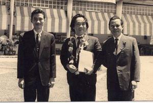 Từ trái sang phải: Nhạc sĩ Nguyễn Văn Đông, nhạc sĩ Trần Văn Trạch, nhạc sĩ Lê Thương