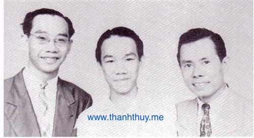 từ trái: Trần Văn Khê, Trần Văn Trạch, Lê Thương - 1949