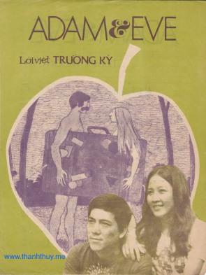 """Ảnh Minh Xuân và Minh Phúc trên bìa ca khúc """"Adam ~ Eve"""", lời Việt Trường Kỳ"""