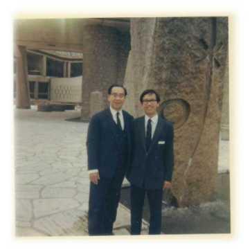 Trần Văn Khê và con trai Trần Quang Hải (Unesco 1973)