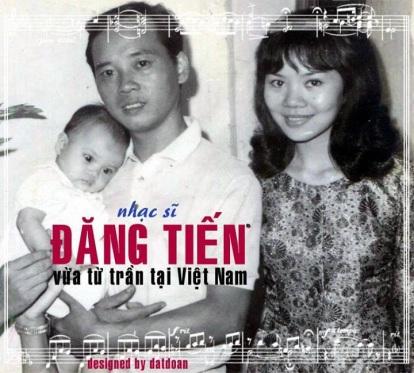 Vợ chồng nhạc sĩ Đăng Tiến chụp với cô con gái cuối thập niên 60. Tên vợ nhạc sĩ ĐT là Sinh nhưng thương cô con gái, người mẹ lấy tên con mình là Mỹ Khanh làm nghệ danh đi hát