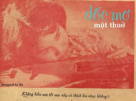 Tấm ảnh Thái Thanh với những ước mơ trong lời chú thích được in trên báo Phụ Nữ Diễn Đàn số 148 phát hành ở SG cuối năm 1957.