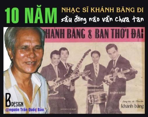 Ảnh trái: Trần Quốc Bảo chụp Khánh Băng năm 1995, ảnh phải là ban nhạc Thời Đại với 4 nhạc sĩ Dương Quang Định, Dương Quang Lê Minh, Khánh Băng, Phùng Trọng.. chụp khoảng năm 1962-1963
