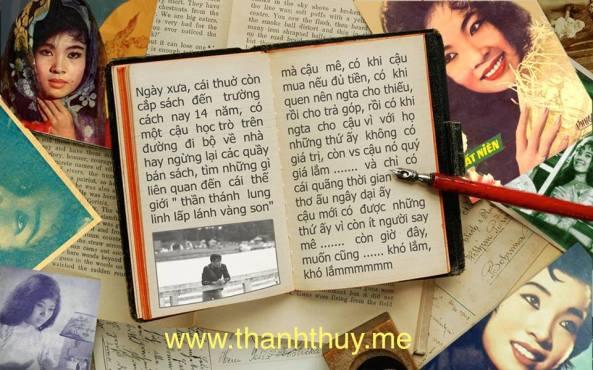 Nguyễn Đức Phú tâm tình về việc sưu tầm hình ảnh hoặc những gì liên quan đến Thanh Thúy. (photo designed by Tuấn Phạm)
