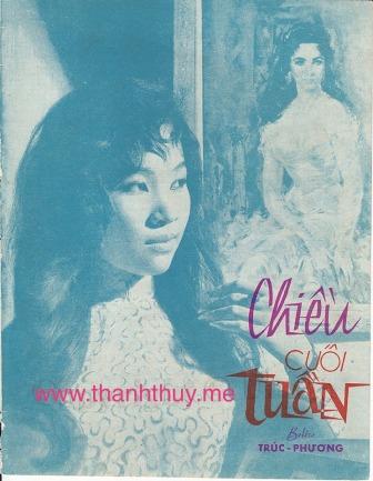 """Ảnh Thanh Thúy trên bìa bản nhạc """"Chiều cuối tuần"""""""