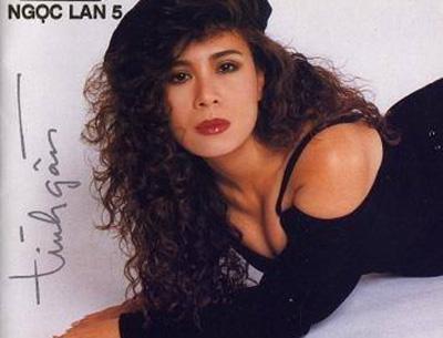 Hình bìa trong album thứ 5 của ca sĩ Ngọc Lan