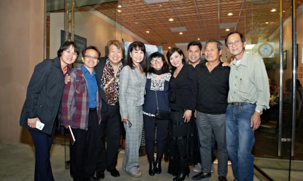 Từ trái: Ngọc, Đức, TQB, Phương Hồng Quế, Mỹ Hòa, Ngọc Đan Thanh, Tuấn Châu, Lê Quí Đình, Thái Đức Nhã