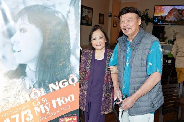 Nghệ sĩ Mỹ Phương (Lưu Hồng), nhạc sĩ Trường Hải đến từ rất sớm