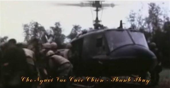 Hình minh họa cho ca khúc Cho người vào cuộc chiến do danh ca Thanh Thúy trình bày.