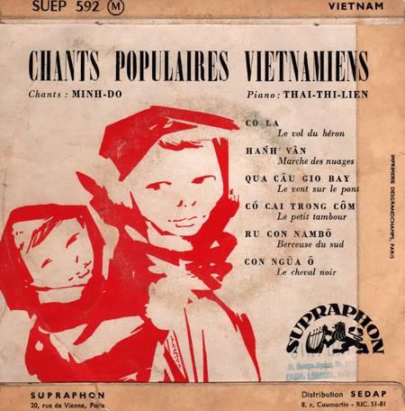 Một đĩa nhạc của hãng Supraphon thực hiện tại Paris với tiếng hát Minh Đỗ và tiếng đàn piano của Thái Thị Liên