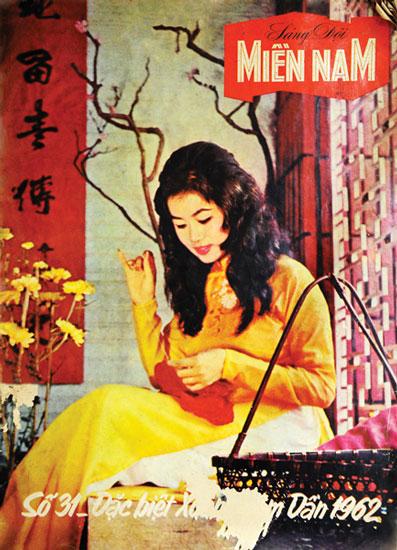 Bìa báo Xuân Sài Gòn xưa được sử dụng ảnh chụp. Một công nghệ được cho là hiện đại những năm đầu thập niên 60