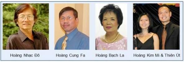 Các con của nhạc sĩ Hoàng Trọng