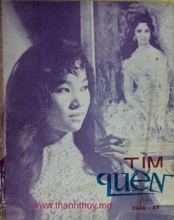 """Ảnh Thanh Thúy trên bìa bản nhạc """"Tìm quên"""""""