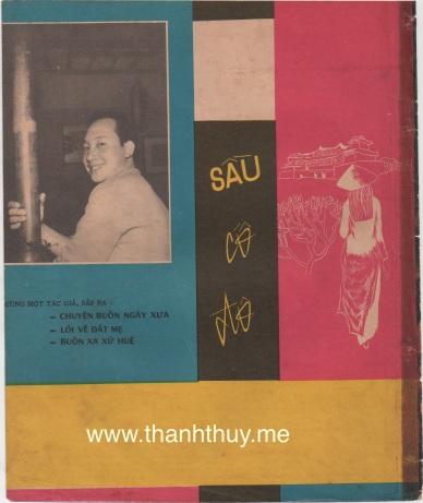 """Ảnh Duy Khánh trên bìa sau của bản nhạc """"Sầu cố đô"""""""