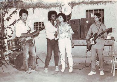 Quốc Việt đã có khiếu ca hát từ hồi còn nhỏ ở vùng quê Biên Hòa