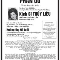 Vĩnh biệt kịch sĩ Thúy Liễu-  bóng mát một đời của cố nhạc sĩ Lữ Liên (Trần Quốc Bảo)