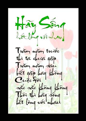 hay song het long voi nhau
